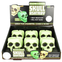 Glowing Skull Polyresin Ashtray | Wholesale Smoke Shop Distributor